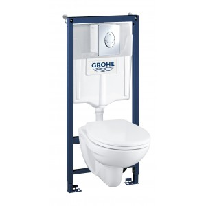 Комплект унитаз Grohe Solido Ceramic 39192000 с инсталяцией